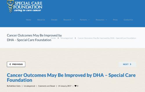 DHAの投与が予後を改善